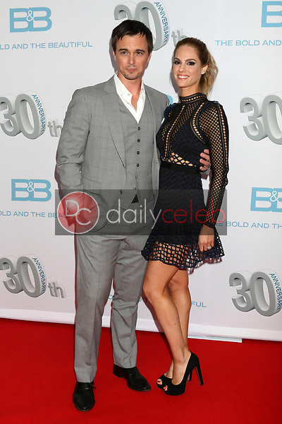 "Darin Brooks, Kelly Kruger<br /> at the ""The Bold and The Beautiful"" 30th Anniversary Party, Clifton's Downtown, Los Angeles, CA 03-18-17<br /> David Edwards/DailyCeleb.com 818-249-4998"