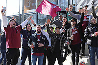 Villa supporters on Wembley way before todays Aston Villa vs Manchester City, Caraboa Cup Final Football at Wembley Stadium on 1st March 2020