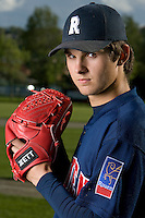 30 April 2008: Quentin Becquey of France poses during the first of seven 2008 MLB European Academy Try-out Sessions throughout Europe, at Stade Kandy Nelson Ball Park, in Toulouse, France. Try-out sessions are run by members of the Major League Baseball Scouting Bureau with assistance from MLBI staff.