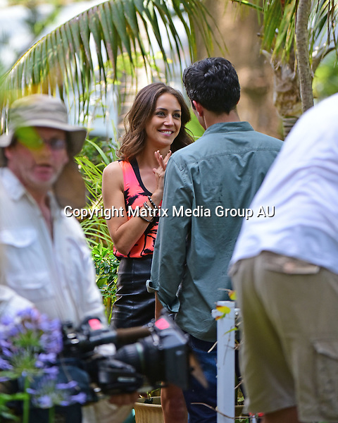 "7th December, 2015 <br /> SYDNEY, AUSTRALIA<br /> <br /> EXCLUSIVE PICTURES<br /> Home & Away filming at  ""Summer Bay"" with new character, James Stewart, Penny Mcnamee, Orpheus and Isabella Giovinazzo<br /> <br /> *ALL WEB USE MUST BE CLEARED*<br /> <br /> Please contact prior to use:  <br /> <br /> +61 2 9211-1088 or email images@matrixmediagroup.com.au <br /> <br /> Note: All editorial images subject to the following: For editorial use only. Additional clearance required for commercial, wireless, internet or promotional use.Images may not be altered or modified. Matrix Media Group makes no representations or warranties regarding names, trademarks or logos appearing in the images."