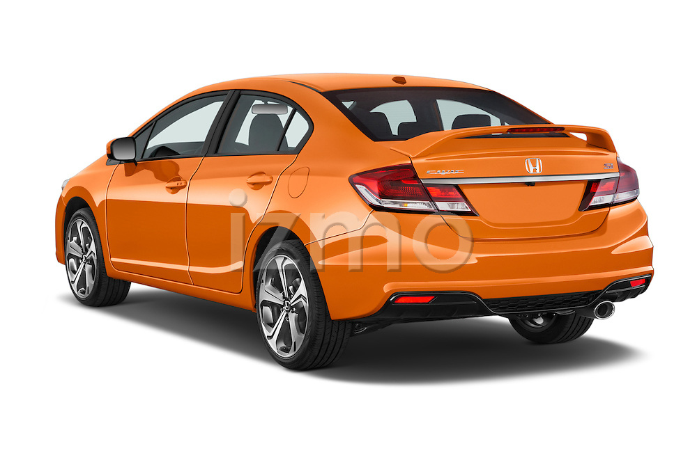 Car Pictures Of Rear Three Quarter View Of A 2015 Honda Civic Si 4 Door  Sedan