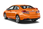 Car pictures of rear three quarter view of a 2015 Honda Civic Si 4 Door Sedan angular rear