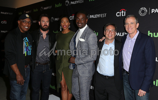 08 September 2016 -  Beverly Hills, California - Kylie Bunbury, Mark-Paul Gosselaar, Mo McRae, Paris Barclay, Rick Singer, Kevin Falls. The Paley Center For Media's PaleyFest 2016 Fall TV Preview: PITCH - FOX held at The Paley Center for Media. Photo Credit: Faye Sadou/AdMedia