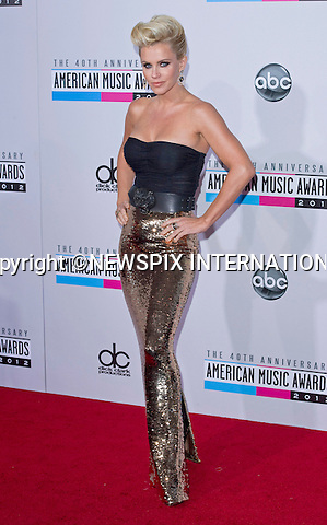 """JENNY McCARTHY.attends the 40th American Music Awards, Nokia Theatre, Los Angeles_18/11/2012.Mandatory Photo Credit: ©Francis Dias/Newspix International..**ALL FEES PAYABLE TO: """"NEWSPIX INTERNATIONAL""""**..PHOTO CREDIT MANDATORY!!: NEWSPIX INTERNATIONAL(Failure to credit will incur a surcharge of 100% of reproduction fees)..IMMEDIATE CONFIRMATION OF USAGE REQUIRED:.Newspix International, 31 Chinnery Hill, Bishop's Stortford, ENGLAND CM23 3PS.Tel:+441279 324672  ; Fax: +441279656877.Mobile:  0777568 1153.e-mail: info@newspixinternational.co.uk"""