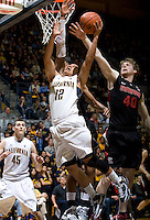 Brandon Smith of California shoots the ball during the game against Stanford at Haas Paviliion in Berkeley, California on March 6th, 2013.  Stanford defeated California, 83-70.
