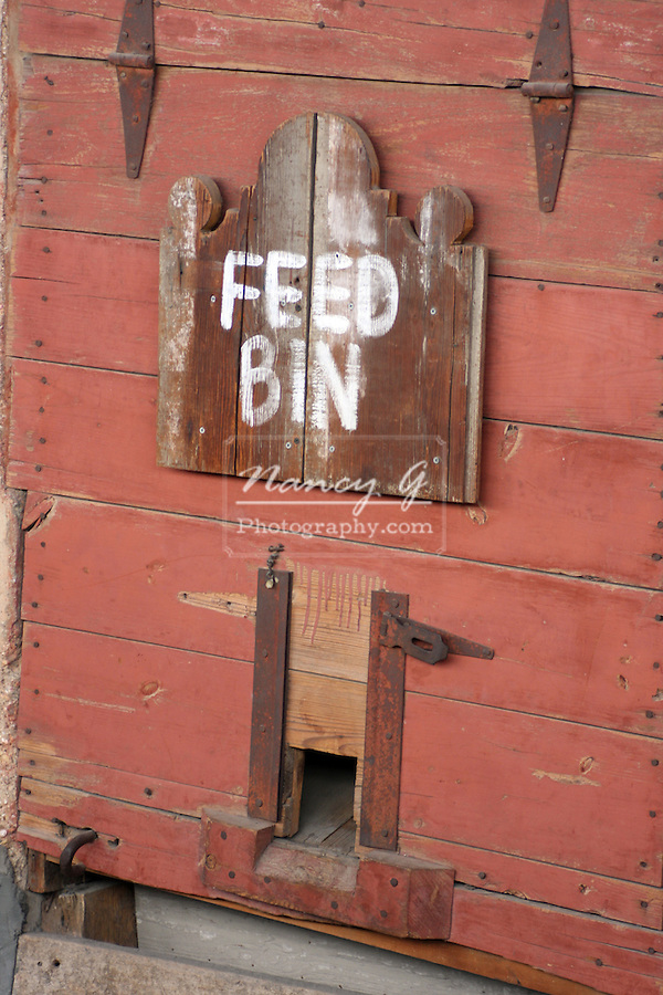 A feed bin at the Stockyard Station Fort Worth Texas