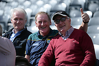 17-1-2017: Kerry supporters Seamus MacGearailt, Jackie MacGearailt and Derry Murphy at the All-Ireland Football final at Croke Park on Sunday.<br /> Photo: Don MacMonagle