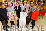 Brendan O'Brien,Tralee who was the Garvey's SuperValu Tidy Towns Volunteer for the month of March and on Wednesday  presenting Brendan with his prize was Sandra Lynch (Manager Garvey's SuperVlau) Tralee. L-r: Brendan O'Brien,Cllr Sammy Locke,Sandra Lynch (Garvey's SuperValu),Tim Moynihan (Garvey's SuperValu), Marian Egan, Padraig O'Sullivan (Garvey's SuperValu),Mary O'Brien and Josephine Griffin.