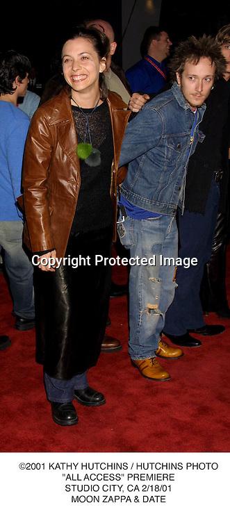 """©2001 KATHY HUTCHINS / HUTCHINS PHOTO.""""ALL ACCESS"""" PREMIERE.STUDIO CITY, CA 2/18/01.MOON ZAPPA"""