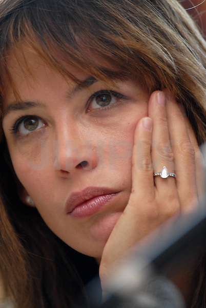 French Actress Sophie Marceau attends a news conference to promote her new movie during the 23rd International Haifa Film Festival in the northern Israeli city of Haifa September 28, 2007. Photo By: JINIPIX / Doron Golan