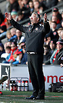 Nigel Adkins manager of Sheffield Utd reacts on touchline - English League One - Fleetwood Town vs Sheffield Utd - Highbury Stadium - Fleetwood - England - 5rd March 2016 - Picture Simon Bellis/Sportimage