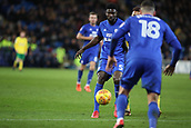 1st December 2017, Cardiff City Stadium, Cardiff, Wales; EFL Championship Football, Cardiff City versus Norwich City; Bruno Ecuele Manga of Cardiff City plays the ball to teammate Callum Paterson