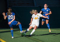 Seattle, WA - Saturday July 16, 2016: Rumi Utsugi, Makenzy Doniak, Manon Melis during a regular season National Women's Soccer League (NWSL) match between the Seattle Reign FC and the Western New York Flash at Memorial Stadium.