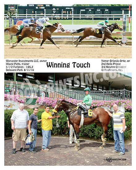 Winning Touch winning at Delaware Park on 8/11/14