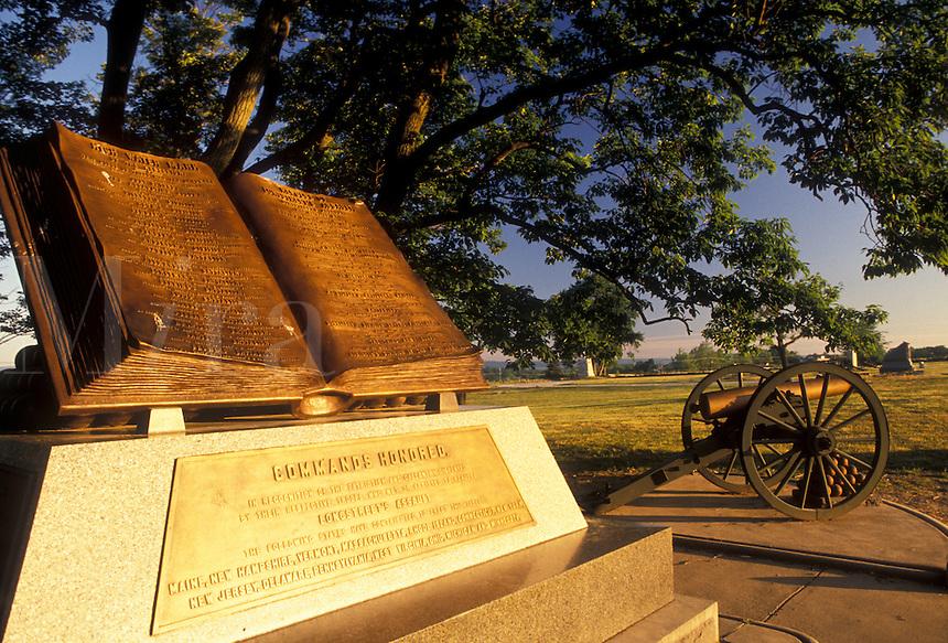 AJ2710, Gettysburg, civil war, battle, battlefield, Gettysburg Military Park, Pennsylvania, Open Book Monument at High Water Mark a battlefield site in Gettysburg National Military Park in Gettysburg in the state of Pennsylvania.