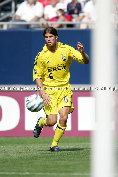 16 July 2005: Chris Wingert. The Chicago Fire and Columbus Crew tied 1-1 at Soldier Field in Chicago, Illinois in a regular season Major League Soccer game.