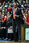 15 November 2014: Fairfield head coach Sydney Johnson. The Duke University Blue Devils hosted the Fairfield University Stags at Cameron Indoor Stadium in Durham, North Carolina in an NCAA Men's Basketball exhibition game. Duke won the game 109-59.