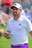 Sergio Garcia (ESP) departs the 18th green following round 3 of the Dean &amp; Deluca Invitational, at The Colonial, Ft. Worth, Texas, USA. 5/27/2017.<br /> Picture: Golffile | Ken Murray<br /> <br /> <br /> All photo usage must carry mandatory copyright credit (&copy; Golffile | Ken Murray)