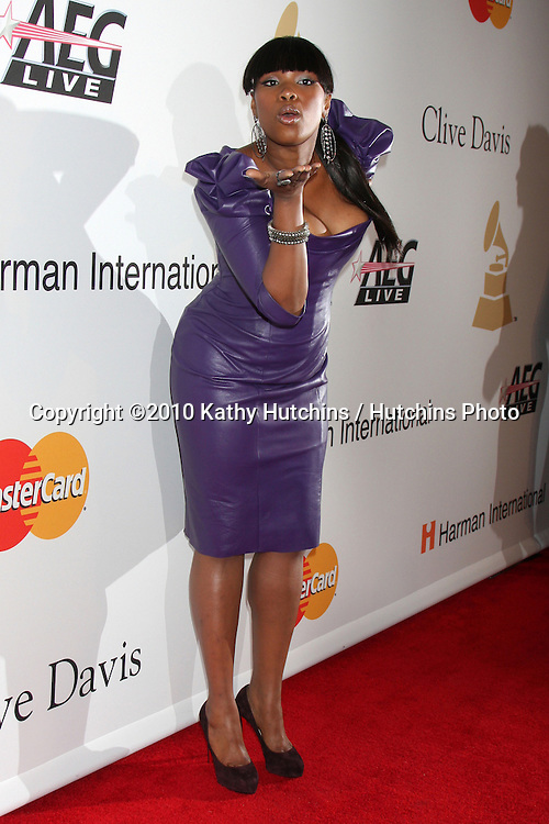 Jennifer Hudson.arriving at the Clive Davis Pre-Grammy Party .Beverly Hilton Hotel.Beverly Hills, CA.January 30, 2010.©2010 Kathy Hutchins / Hutchins Photo....