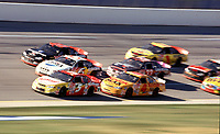 Tight racing during  the Winston 500 at Talladega, AL in October 2000. (Photo by Brian Cleary)