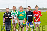 Padriag Cronin, St Johns, Niall Fitzmaurice, Holy Family NS, Killian Monahan, Kilmoyley NS, Darragh Slattery, Darragh Slattery,Ballincrossig  NS, Michael Kelleher, Dromclough N.S Pictured at the Coiste Na Nóg Primary Schools hurling Skills finals at Austin Stack Park Tralee on Tuesday