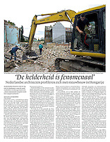 Dutch daily NRC Handelsblad<br /> December 9, 2005<br /> Photographer: Martin Fejer