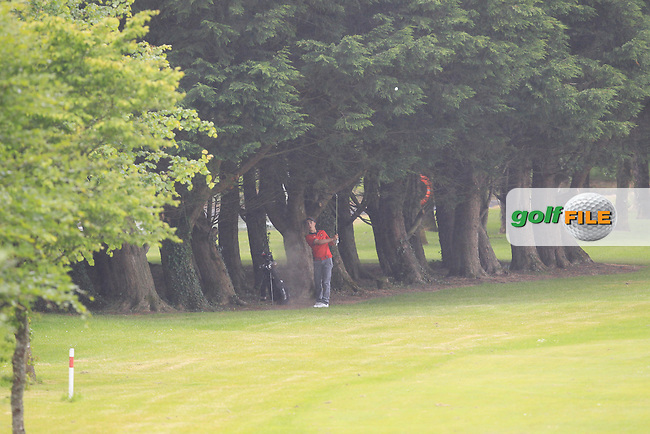 Sean Desmond (Monkstown) on the 6th during Round 2 of the Irish Boys Amateur Open Championship at Tuam Golf Club on Wednesday 24th June 2015.<br /> Picture:  Thos Caffrey / www.golffile.ie