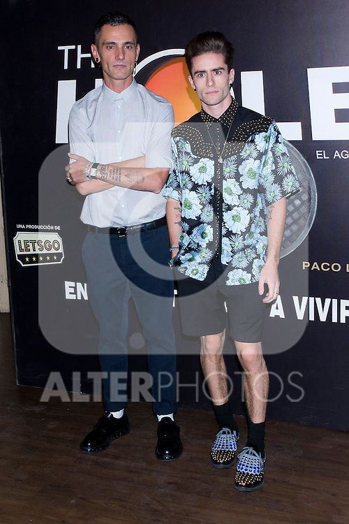 12.09,2012. Celebrities attend the presentation of the new season of  'The Hole' in Theater Caser Calderon of Madrid, with La Terremoto de Alcorcon and Alex O'Dogherty. In the image David Delfin and Pelayo Diaz (Alterphotos/Marta Gonzalez)