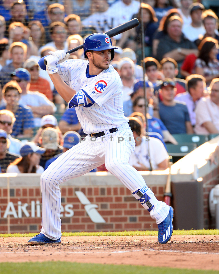 Chicago Cubs Kris Bryant (17) during a game against the New York Mets on July 18, 2016 at Wrigley Field in Chicago, IL. The Cubs beat the Mets 5-1.