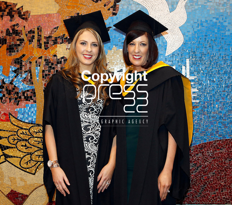 REPRO FREE<br /> 20/01/2015<br /> Majella O'Conner, Shanagolden, Co. Limerick and Cynthia Meehan, Charleville, Co. Cork  who graduated with degrees in Midwifery as the University of Limerick continues three days of Winter conferring ceremonies which will see 1831 students conferring, including 74 PhDs. <br /> UL President, Professor Don Barry highlighted the increasing growth in demand for UL graduates by employers and the institution&rsquo;s position as Sunday Times University of the Year. <br /> Picture: Don Moloney / Press 22