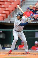 Lehigh Valley IronPigs outfielder Steve Susdorf #4 during the first game of a double header against the Buffalo Bisons on June 7, 2013 at Coca-Cola Field in Buffalo, New York.  Buffalo defeated Lehigh Valley 4-3.  (Mike Janes/Four Seam Images)
