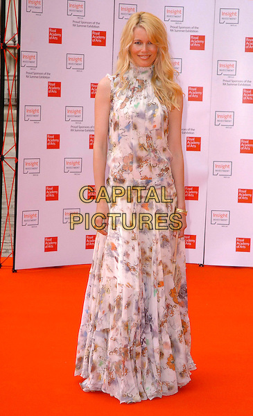 CLAUDIA SCHIFFER.The 2006 Summer Exhibition Preview Party at the Royal Academy in Piccadilly, London, UK..June 7th, 2006 .Ref: CAV.full length floral print dress white .www.capitalpictures.com.sales@capitalpictures.com.© Capital Pictures.