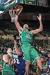 North Texas Mean Green forward Tony Mitchell (13) in action during the game between the Jackson State Tigers and the North Texas Mean Green at the Super Pit arena in Denton, Texas. UNT defeats Jackson State 83 to 65...