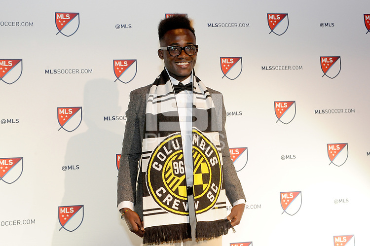 Philadelphia, PA - Thursday January 19, 2018: Edward Opoku during the 2018 MLS SuperDraft at the Pennsylvania Convention Center.
