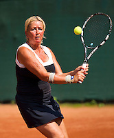 Netherlands, Amstelveen, August 22, 2015, Tennis,  National Veteran Championships, NVK, TV de Kegel,  Lady's 55+, Josephine van der Stroom<br />
