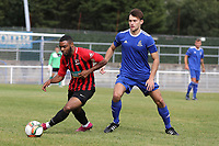 Gary Bowes of Saffron Walden and Sam Dickens of Redbridge during Redbridge vs Saffron Walden Town, Essex Senior League Football at Oakside Stadium on 7th September 2019
