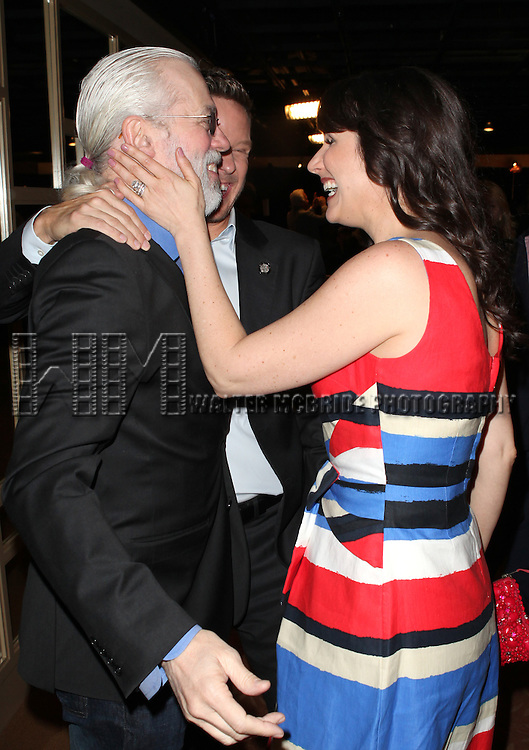 Terrence Mann, Will Chase & Stephanie J. Block attending the 2013 Tony Awards Meet The Nominees Junket  at the Millennium Broadway Hotel in New York on 5/1/2013...