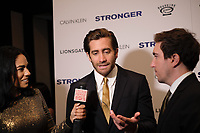 www.acepixs.com<br /> <br /> September 14 2017, New York City<br /> <br /> Jeff Bauman and Jake Gyllenhaal arriving at the premiere of 'Stronger'  at the Walter Reade Theater on September 14, 2017 in New York City.<br /> <br /> By Line: Curtis Means/ACE Pictures<br /> <br /> <br /> ACE Pictures Inc<br /> Tel: 6467670430<br /> Email: info@acepixs.com<br /> www.acepixs.com