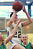 Corrine Reda #22 of Mattituck looks to drive to the net during the NYSPHSAA varsity girls basketball Class B Southeast Regional Final against Irvington at SUNY Old Westbury on Thursday, March 9, 2017. Irvington defeated Mattituck by a score of 62-37.