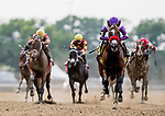 June 7, 2019 : #4, Fore Left, ridden by jockey Mario Gutierrez, wins the Tremont on Belmont Stakes Festival Friday at Belmont Park in Elmont, New York. Alex Evers/Eclipse Sportswire/CSM
