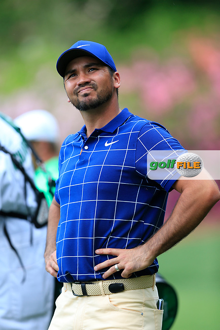 Jason Day (AUS) on the 13th green during the 1st round at the The Masters , Augusta National, Augusta, Georgia, USA. 11/04/2019.<br /> Picture Fran Caffrey / Golffile.ie<br /> <br /> All photo usage must carry mandatory copyright credit (© Golffile   Fran Caffrey)
