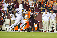 Landover, MD - September 3, 2017: Virginia Tech Hokies tight end Chris Cunningham (85) runs after catching a passe during game between Virginia Tech and WVA at  FedEx Field in Landover, MD.  (Photo by Elliott Brown/Media Images International)