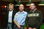 Gerry Simpson, Stephen Rock and Tony Byrne at the Simon Moroney Memorial Pool Tournament in O'Caseys...Photo NEWSFILE/Jenny Matthews.(Photo credit should read Jenny Matthews/NEWSFILE)....This Picture has been sent you under the condtions enclosed by:.Newsfile Ltd..The Studio,.Millmount Abbey,.Drogheda,.Co Meath..Ireland..Tel: +353(0)41-9871240.Fax: +353(0)41-9871260.GSM: +353(0)86-2500958.email: pictures@newsfile.ie.www.newsfile.ie.FTP: 193.120.102.198.