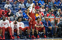 NWA Democrat-Gazette/BEN GOFF @NWABENGOFF<br /> Arkansas players react as Arkansas trails Florida late in the game Thursday, March 14, 2019, during the second round game in the SEC Tournament at Bridgestone Arena in Nashville.
