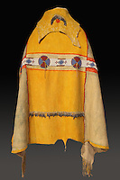 Animal skin robe, c. 1900, by Dah-haw, an Ute craftsman, d. c. 1918, made from elk skin, glass beads, metal and paint, from the Mrs James W Douglas Bequest, 1937, at the Denver Art Museum, Denver, Colorado, USA. Picture by Manuel Cohen