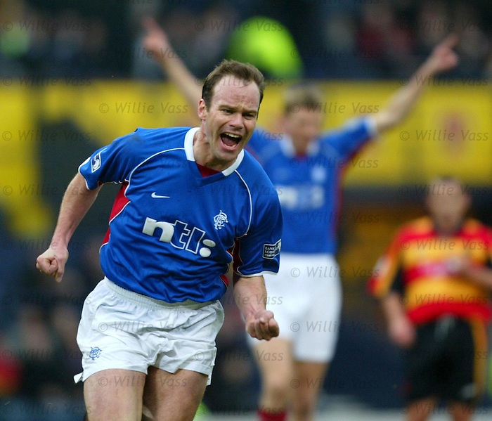 Rangers v Partick Th Scottish Cup SF 24.3.02: German midfielder Christian Nerlinger scores for Rangers.
