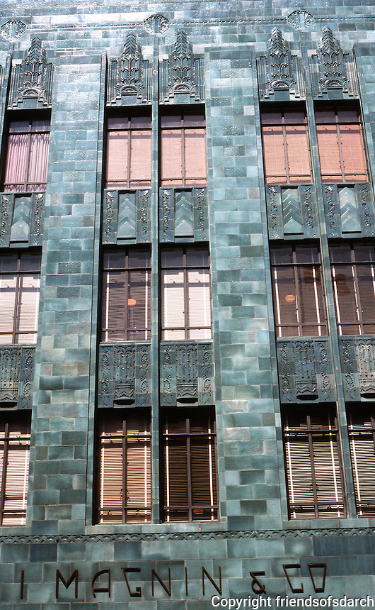 Oakland: I. Magnin, 20th St. facade. Weeks & Day, 1931. Early Moderne. Terra Cotta. Photo '76.