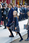 Princess Leonor of Spain and Queen Letizia of Spain during Spanish National Day military parade in Madrid, Spain. October 12, 2015. (ALTERPHOTOS/Pool)