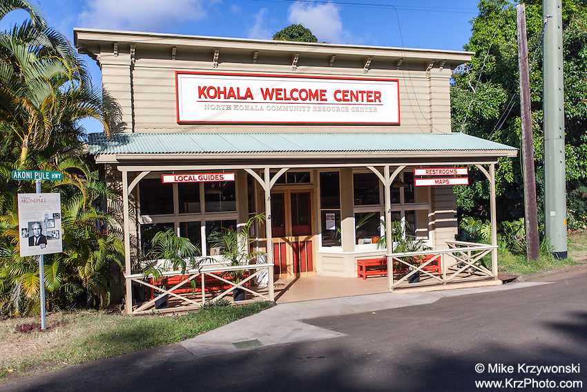 Kohala Welcome Center, Hawi, Big Island, Hawaii