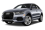 Stock pictures of low aggressive front three quarter view of 2016 Audi Q3  2.0T-FWD-tiptronic-Premium-Plus  5 Door SUV